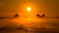荒船海岸の海霧と夜明け 和歌山県串本町田原 47419132