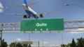 Airplane Landing Quito 47453788