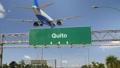 Airplane Landing Quito 47453793