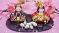 Hinamatsuri圖像Hina娃娃和跳舞的花瓣 47500838