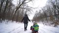 child, cold, sledding 47565505