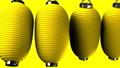 Yellow paper lanterns on yellow background 47594252