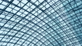 glass roof of a modern evening time building 47634481