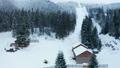 Aerial view of ski slope 47646916