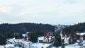 Aerial footage of winter village 47646924