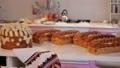Wedding table with sweet traditional wedding loaf. 47647445