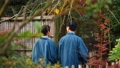中間夫婦溫泉旅行Yukata室外浴圖像 47664474