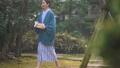 中間女性溫泉旅行浴衣室外浴圖像 47664827