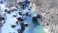 冬 厳美渓 渓流 川 水 雪 47666838