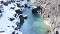 冬 厳美渓 渓流 川 水 雪 47666839