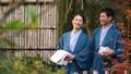 中間夫婦溫泉旅行Yukata室外浴圖像 47675900
