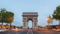 Paris France time lapse at Arc de Triomphe 47680349
