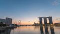 Singapore time lapse city skyline at Marina Bay 47680353