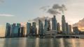 Singapore time lapse city skyline at Marina Bay 47680354