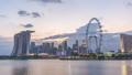 Singapore time lapse city skyline at Marina Bay 47680355