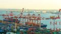 東京物流貿易圖像Timelapse東京港青山集裝箱碼頭傾斜 47746056