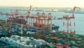 東京物流貿易圖像時間流逝東京港奧米集裝箱碼頭修復 47746057