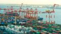 东京物流贸易图像时间流逝东京港奥米集装箱码头zoom 47746059