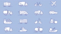 Set of vehicles icons 47783484