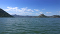 View from moving boat on famous Lake Skadar 47792729