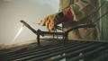 Worker lighting up an acetylene torch for welding 47797583
