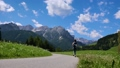 Woman jogging outdoors. Italy Dolomites Alps 47797977