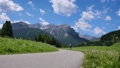 Woman jogging outdoors. Italy Dolomites Alps 47797978