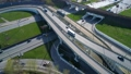 Aerial view of a freeway intersection. 47797987