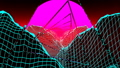 Futuristic Pink Sunset And Pyramids, VJ Loop 47802028