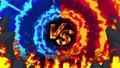 싸움 경기 VS 불꽃 광선 애니메이션 루프 47830186