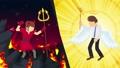 천사 악마 전투 애니메이션 비즈니스 코스프레 루프 47830855