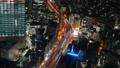 大都会东京的高速公路首都高夜景鸟瞰图时间推移缩小 47834953