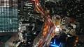 大都会东京的高速公路首都高夜视图鸟瞰图时间推移平底锅 47834954