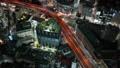 大都会东京的高速公路首都高夜视图鸟瞰图射击时间流逝 47836881