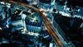 大都会东京的高速公路首都高夜视图鸟瞰图射击时间流逝 47845461