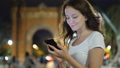 Portrait of young woman messaging in smartphone 47846115