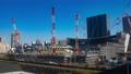 Crane Interval Shot Time Lapse Small Speed Shooting Under Construction Site Urban Development Tilt 47862733
