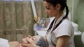 Spa woman facial Massage. Face Massage in beauty 47881758