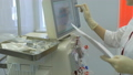 Hemodialysis center. Connecting a person. 47892956