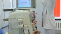 Hemodialysis center. Connecting a person. 47893031