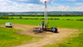 timelapse installation of pump jack throughout months 47898460