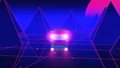 Car Pyramids Retro Wave Vj Loop 47905231