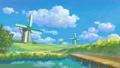 古い風車のある風景 47907514