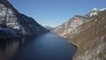Winter flight over Konigsee lake, Berchtesgaden, Germany 47923684