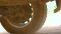 Rear wheel of SUV truck spinning and move on off r 47935889
