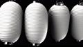 White paper lanterns on black background 47938856