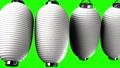 White paper lanterns on green chroma key 47938858