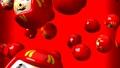 Red daruma dolls on red background 47945601