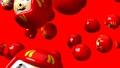 Red daruma dolls on red background 47945602