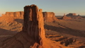 Aerial view of the western part of the sunrise of the monument valley 47979527